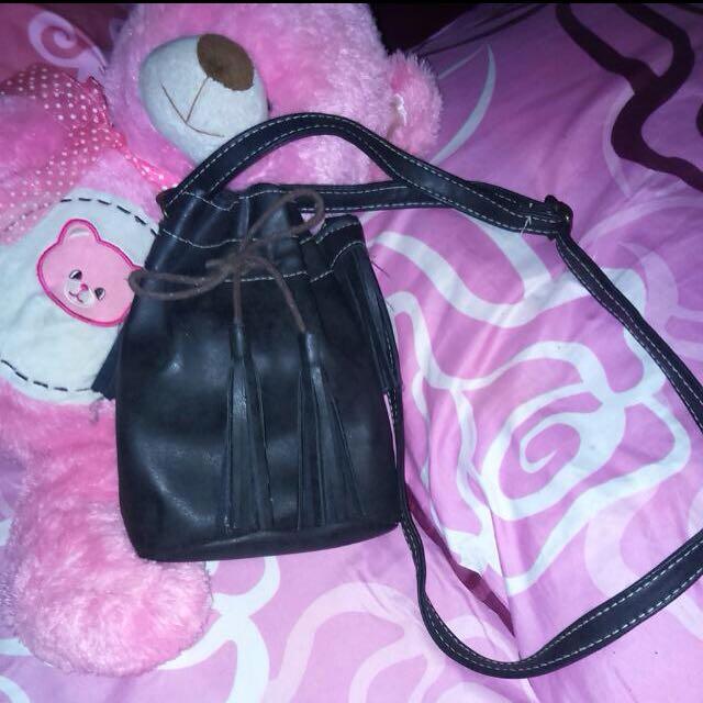 Black Bucket Bag 👜