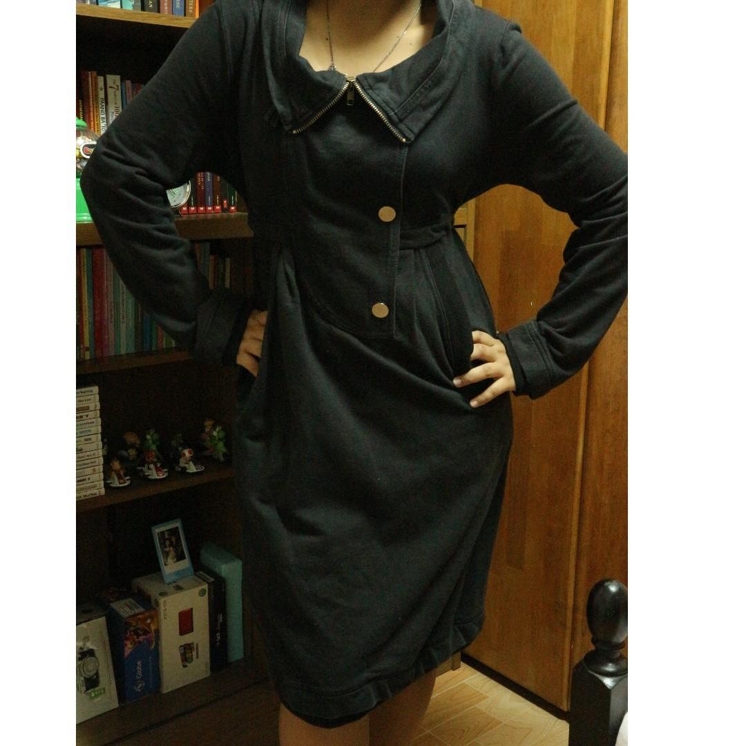 Black Long Sleeves Dress