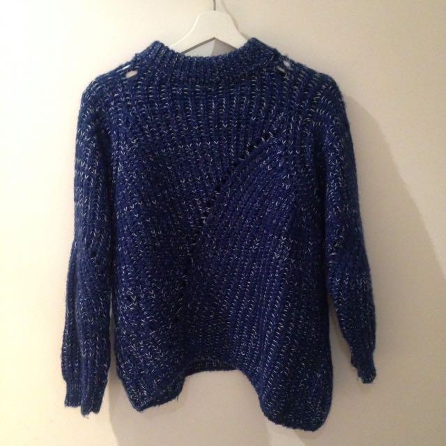 Ocean Blue Knit Top
