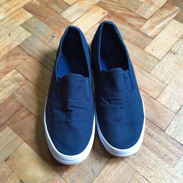 Blue Slip On