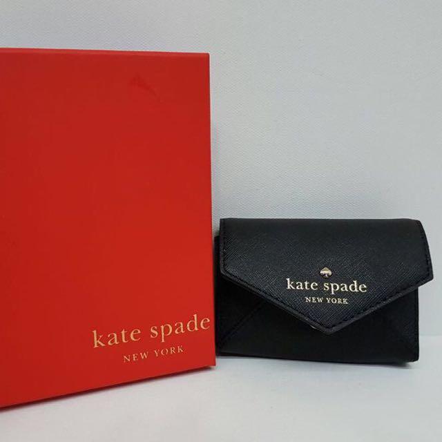 new product 41c42 d13cf (BN) Kate Spade Black Card Holder
