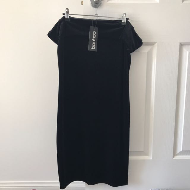 Boohoo Velvet Dress