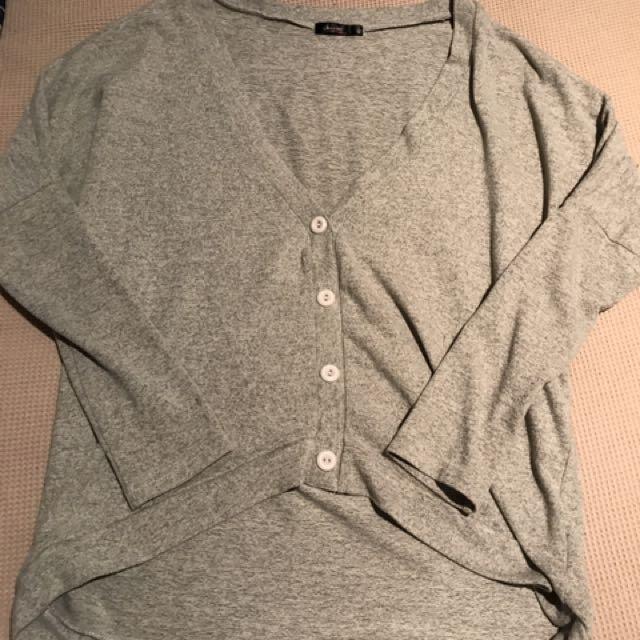Button Grey Jumper