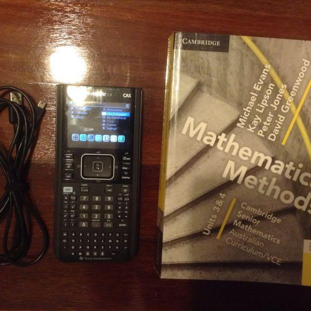 Cambridge Mathematic Methods 3/4 + TI-Nspire CAS Calculator