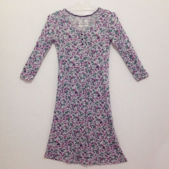 casual dress flower / dress santai