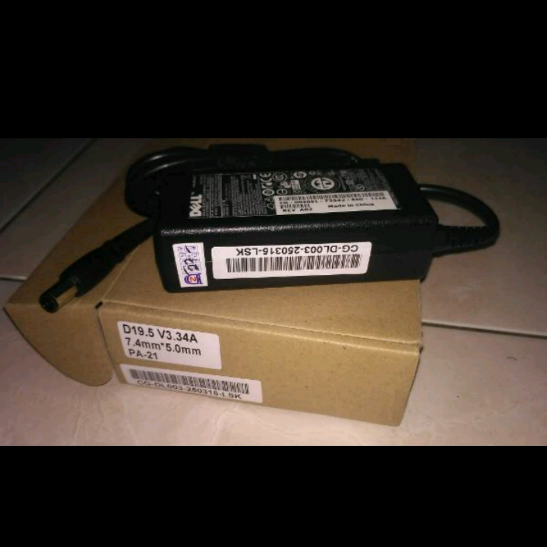 Charger Dell Pa 21 New Garansi Personal 19.5V 3.34A