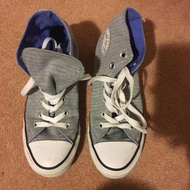 Converse High Tops - Grey Sz 5 Or 7 WOMENS