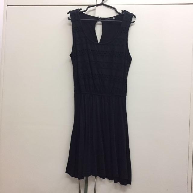 Cotton On Black Crochet Design Dress