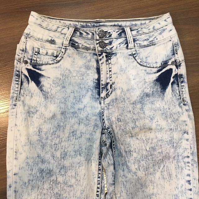 Denim High Wasted Pants