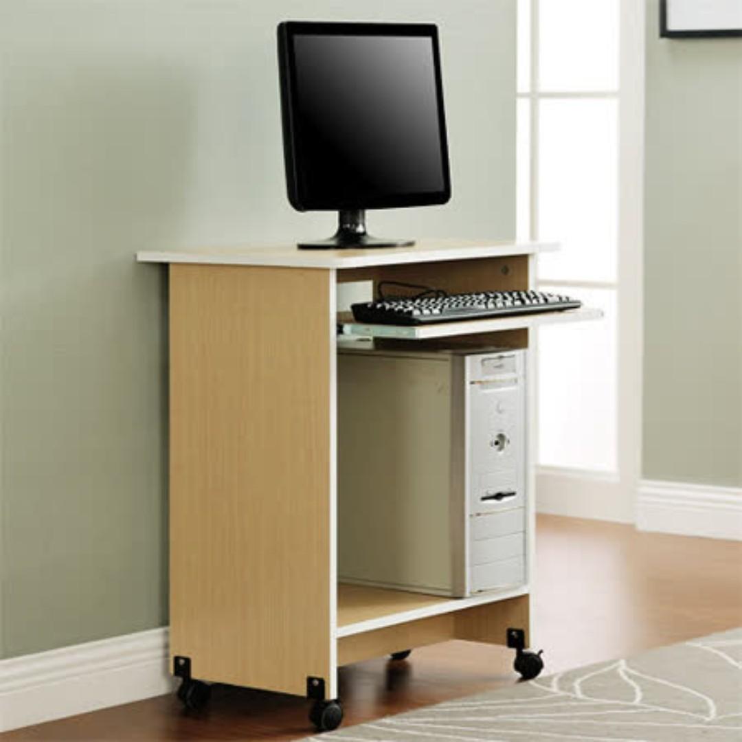 DIY輕巧附鍵盤架電腦桌-三色可選