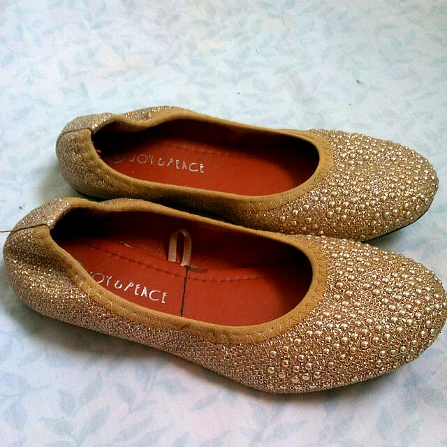 Doll Shoes Gold