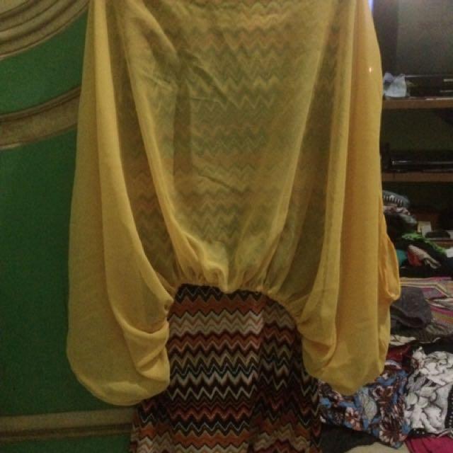 Dress Tribal Kuning