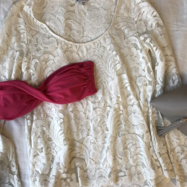 Express Lace Top S