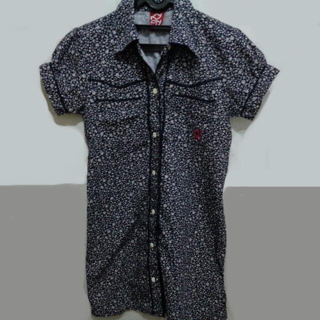 Floral Blue Shirt