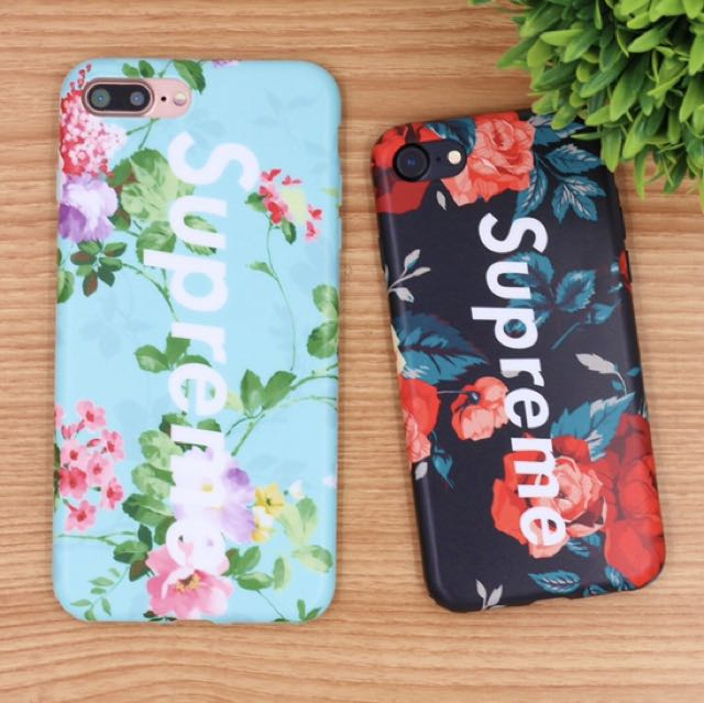 brand new ad925 0a53d Floral X Supreme iPhone Case on Carousell