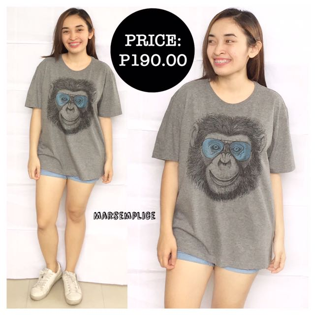 For Men_The Real Deal Gray Monkey Shirt