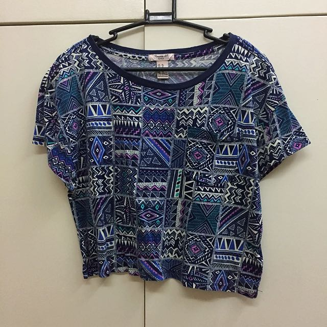 Forever 21 Blue  Cropped Top