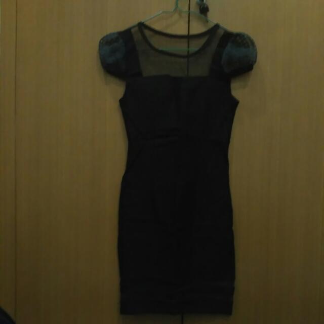Free Ongkir Mini Dress Black