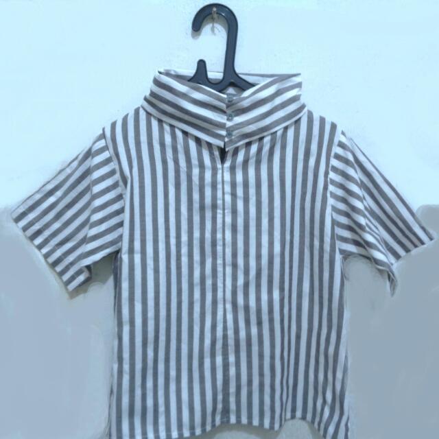 Free Ongkir- Stripe Blouse