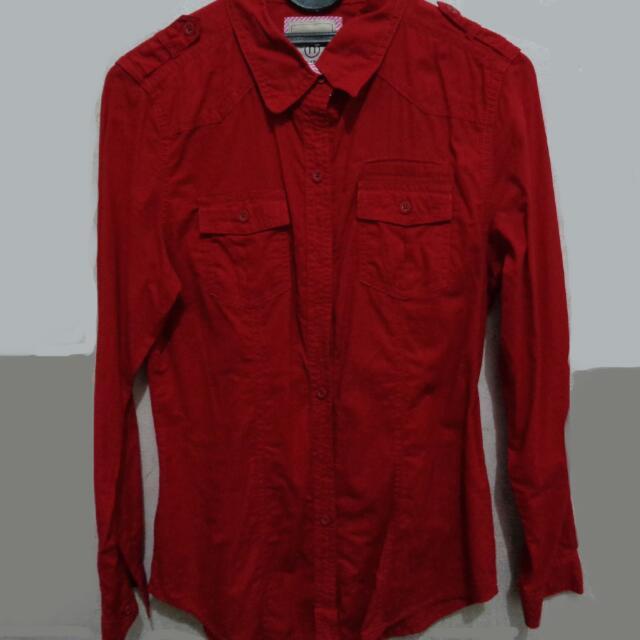 Free Ongkir-Nevada Red Shirt