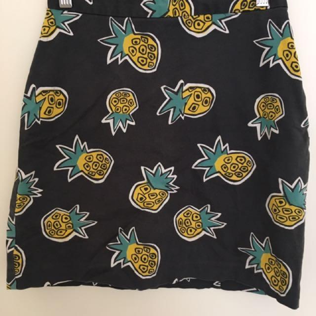 Gorman Pineapple Mini Skirt Sz 6