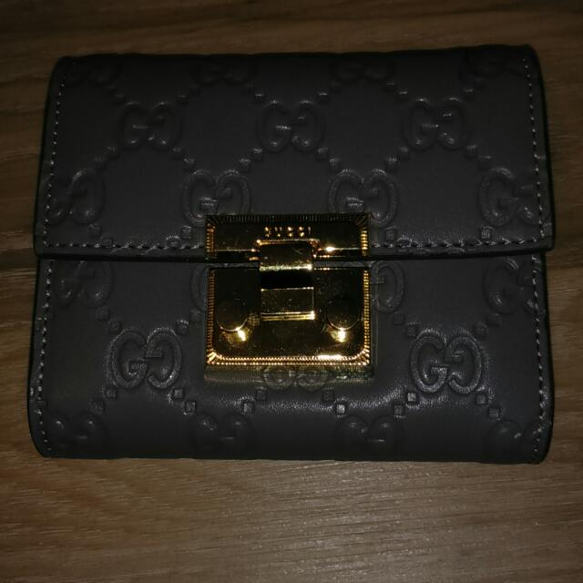 Gucci Grey Wallet
