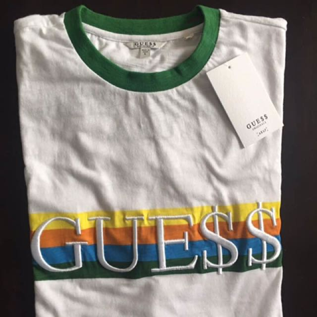 Guess X Asap Rocky t shirt, Men's Fashion, Clothes on Carousell