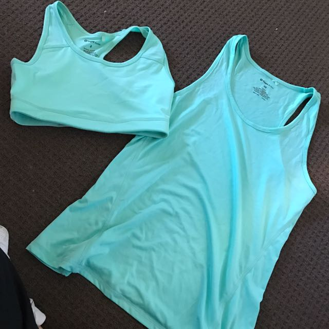 Gym Singlet And Sport Bra