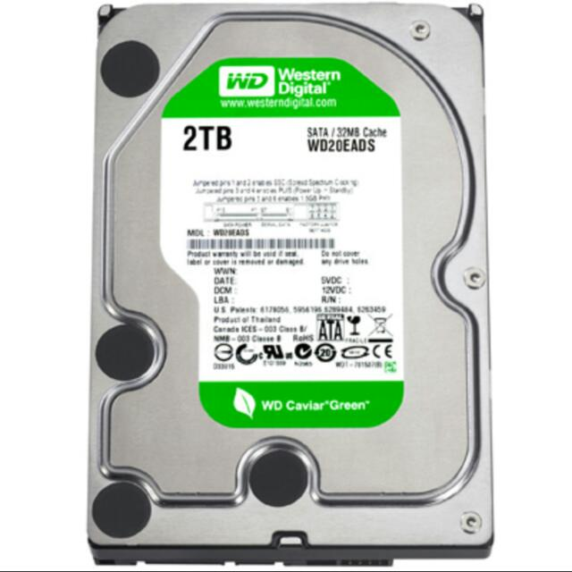 Hardisk/ Harddisk/ Hard Drive WD Green 2Tb (2000GB) 3.5inch For PC