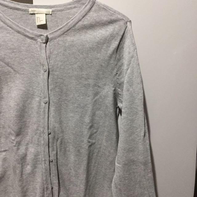 H&M Basic Grey Cardi