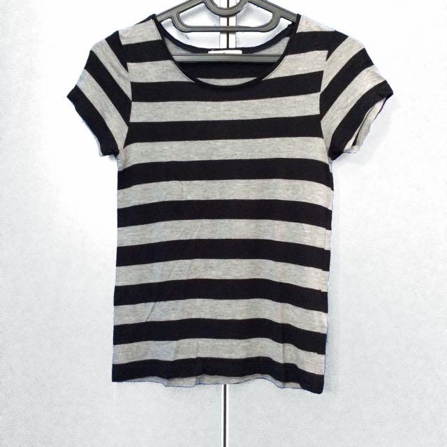 h&m stripped t-shirt