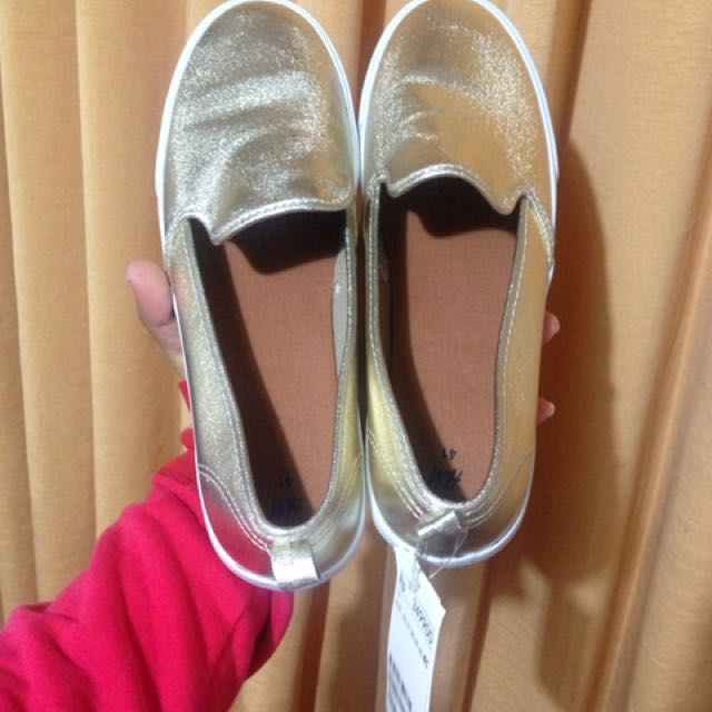 Hnm Shoes ORI Gold Emas