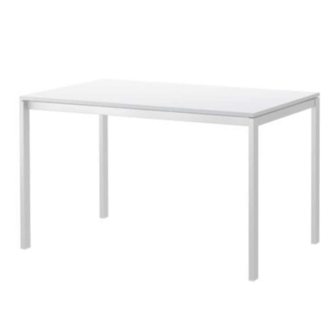 IKEA white table MELLTORP