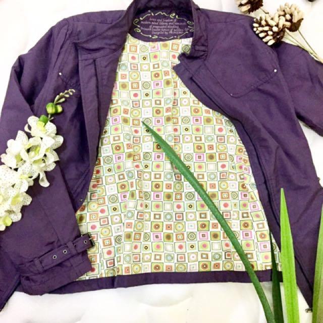 Jaket Parasut Ungu Purple