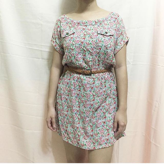 Just G Floral Dress (belt not included)