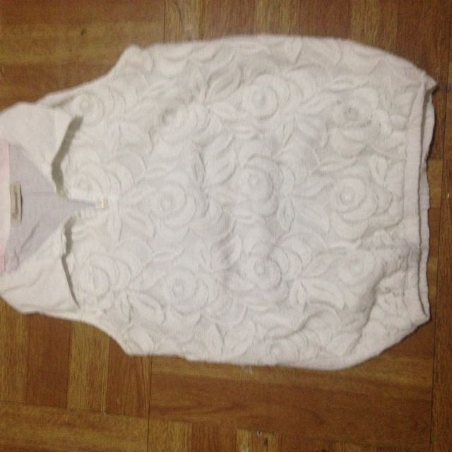 Kids Shirt White Floral Design