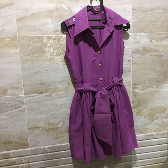 Leaf Purple Dress