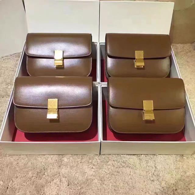 Leather Celine Box Bag Inspired