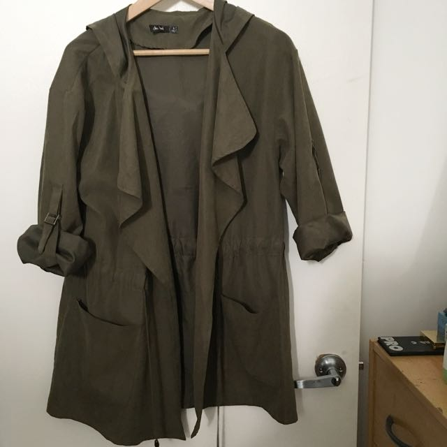 Lightweight Summer Khaki Coat Size 8