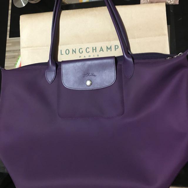 Longchamp Planetes 行星深紫款款 長把  (已降價)