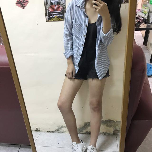 Lulus 藍白條紋襯衫
