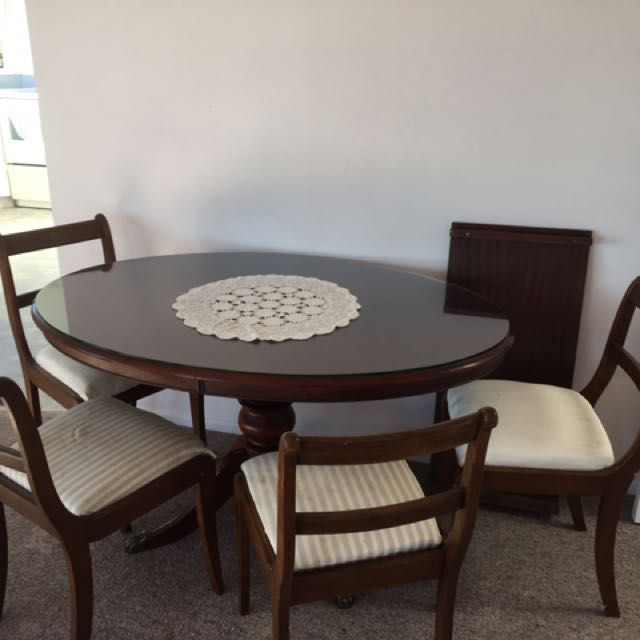 Mahogany Oval Dining Suite