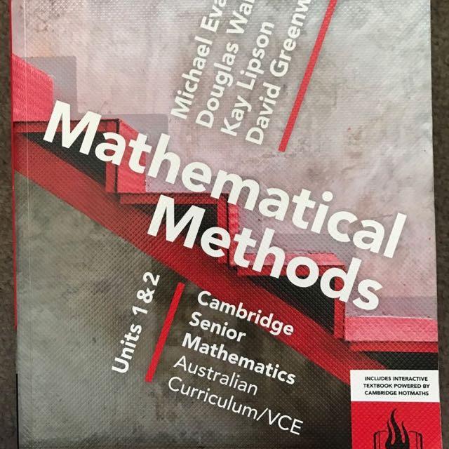 Maths Methods Unit 1 & 2