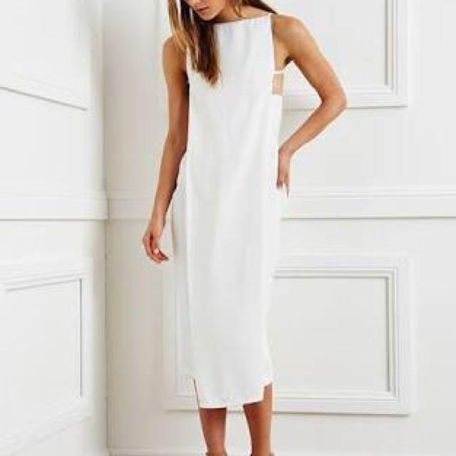 Maurice & Eve White Dress Sz6 BNWT