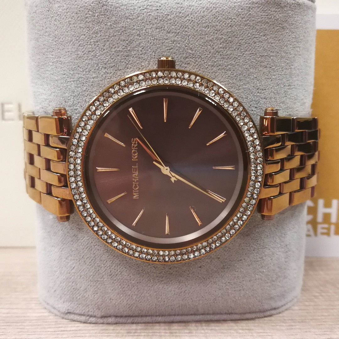 5d3c8c1d7589 MICHAEL KORS Darci Pavé Sable Watch MK3416