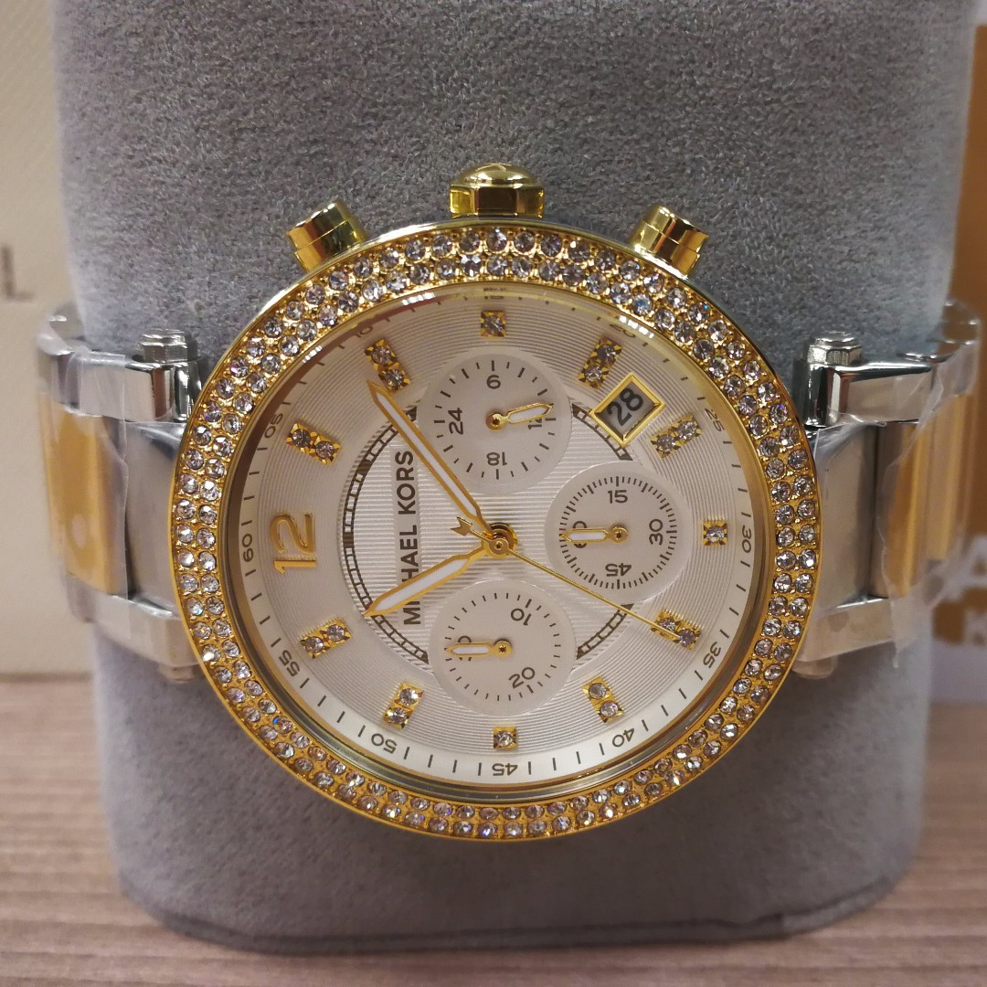 43a10c6c0539 MICHAEL KORS Parker Two-Tone Stainless Steel Watch style MK5626 ...