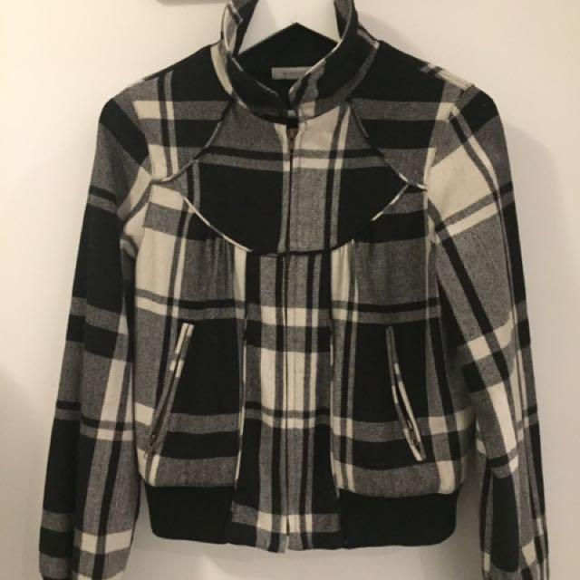 Minkpink Black And White Jacket