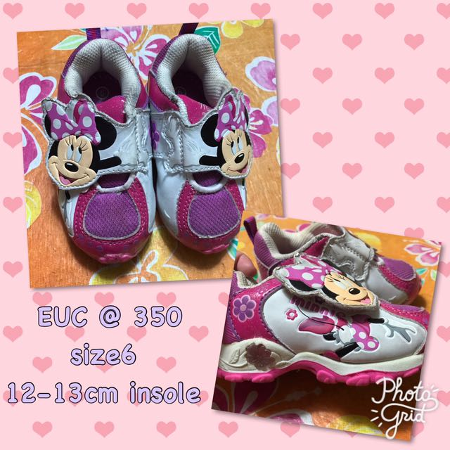 Minnie mouse rubber shoes