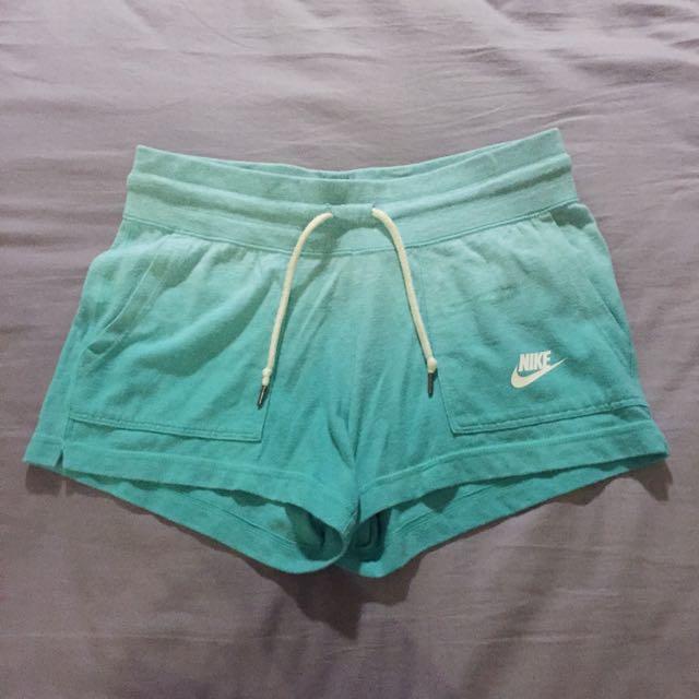 Nike海洋漸層藍色綿質運動短褲