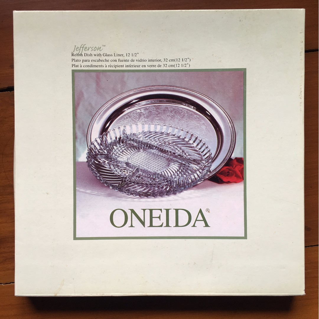 "Oneida Jefferson 12 1/2"" Silverplated Round Tray"